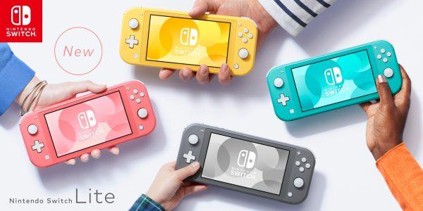 All four Nintendo Switch Lite colours